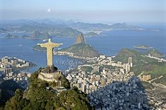 Christ overlooking Rio. One of the new seven wonders of the world.