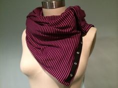 pink and black scarf DIY directions