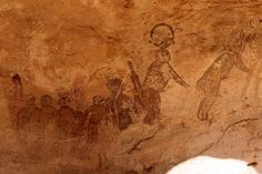 The Tassili n'Ajjer cave paintings in Algeria, North Africa