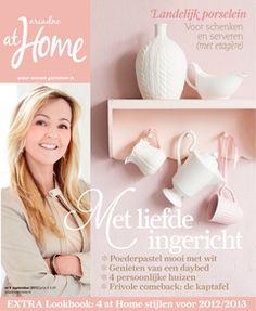 Het nieuwe september nummer ligt in de winkel, met artikel over Pinterest en ariadne at Home Lookbook voor een kijkje in de woonstijlen 2013 Styling Moniek Visser