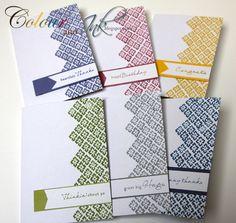 Stamped set of cards