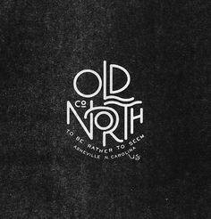 Old North Co #lettering #logo #vintage #grafica