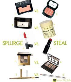 Beauty: Splurge vs. Steal