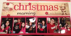 Christmas morning scrapbook layout