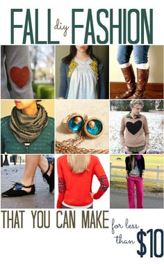 DIY Fall Fashion for Under $10 - All Cheap Crafts