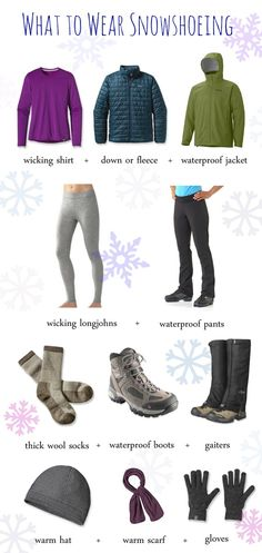 What to wear while snowshoeing