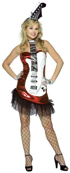 ¡Música maestro! Disfraz de guitarra para chica. Disponible en www.vegaoo.es