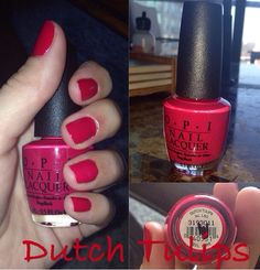 Valentines day red by OPI in Dutch Tulips. Bright red, sexy nails