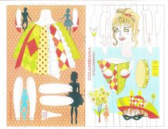 2006 L.A. Spring Fling menu, featuring jointed paper dolls by Kwei-lin Lum. 2 of 2