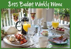 Gluten free $125 Budget Weekly Menu--The Peaceful Mom