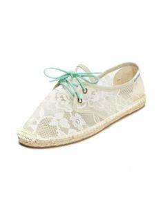 Lace Flower - White Lace Up Espadrilles for Women from Soludos - Soludos Espadrilles