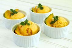 Mango-Greek Yogurt Sherbet by www.whatscookingwithruthie.com