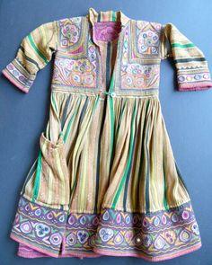 SHISHA Child's Coat/Dress Exquisite Antique Textile from Pakistan or India. $250.00, via Etsy.
