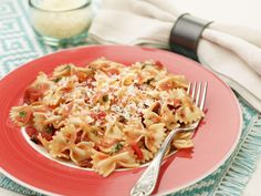 Bowtie Pasta with Tomato and Roasted Red Pepper Sauce Recipe : Food Network Kitchen : Food Network - FoodNetwork.com