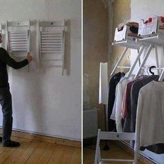 Photo: Have limited closet space, well, this is an unconventional way to solve that problem.  I personally love it.