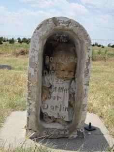 Baby in the Glass, Digital Cemetery Walk, Gale Wall, Fairview Cemetery, Kiowa Co KS #genealogy #familyhistory