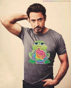 Funky Fresh in Lisa Frank Tumblr: Robert Downey Jr.