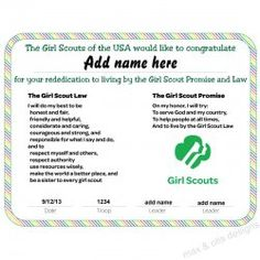 ... Printables on Pinterest   Award Certificates, Girl Scouts and Badges