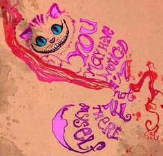 Cheshire cat quote via www.TheRabbitHoleRunsDeep.Blog.com