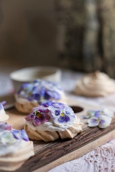 Candied Pansy & Viola Mini Pavlovas | Adventures in Cooking