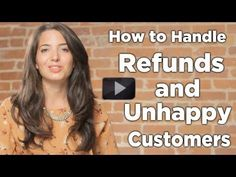 Watch this video if you're not sure how to handle refunds and unhappy customers in your #business. Repin if you love this advice, and get even more at www.marieforleo.com