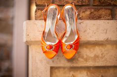 Orange shoes - great for fall wedding!