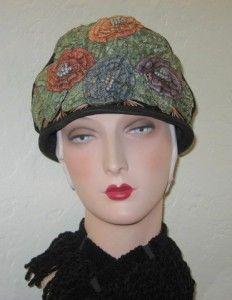 Vintage Passementerie » Blog Archive » Circa 1920's Velvet Cloche with Ribbon Embellishment