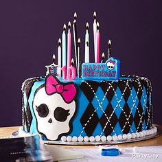Serve up a birthday cake to die for! Click for tips on decorating a creepy-cool Monster High cake.