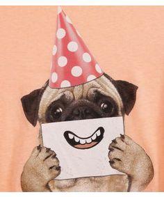 Pug is a happy clown.