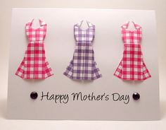 card idea, origami dress, fanci mother, card mother, mothers day cards