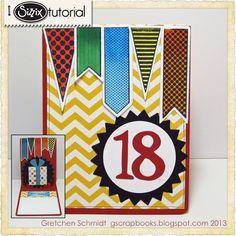 gretchen schaefer, die cutting, happy birthdays, sizzix die, birthday pop, cut card, cut tutori, happi birthday, cards
