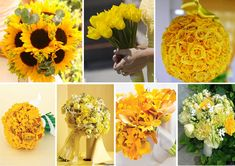 Sunflower bouquets and other yellow flower ideas