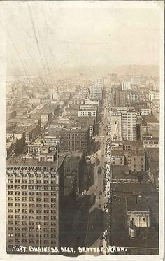 View from Smith Tower, circa 1915