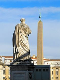 St. Peter and the obelisk, the Vatican.