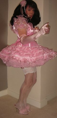 A sissy boy in petticoats, this photograph is the copyright of www.shop.madam-raison-detre.co.uk