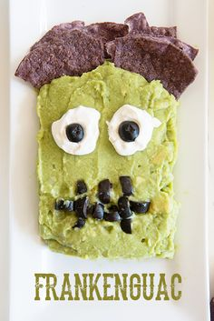 Halloween Party Idea - Frankenguac from @dineanddish