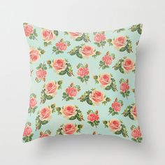Floral Pattern  Throw Pillow by ALLYJDESIGNS on Etsy, $45.00