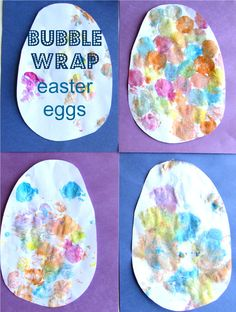 bubble wrap print easter eggs