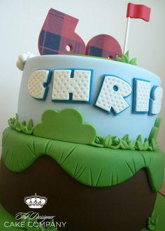 60th birthday golf cake - by designercakecompany @ CakesDecor.com - cake decorating website