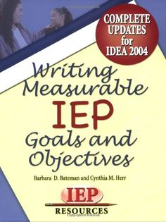 Writing Measurable IEP Goals and Objectives-book with amazon description from The Sensory Spectrum. Pinned by SOS Inc. Resources @sostherapy.