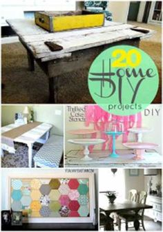 Great Ideas- 20 Home DIY Projects To Make Now