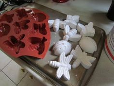 How to make a cute tic tac toe game with plaster and molds!