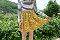 Sewn: A Simple Skirt // Caught On A Whim Blog by Caught On A Whim, via Flickr