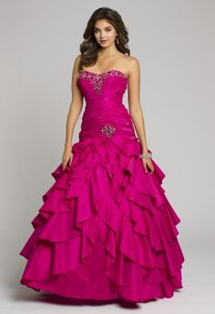 Prom Dresses 2013 - Strapless Long Taffeta Dress with Ruched Bodice from Camille La Vie and Group USA
