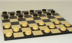 Black/Natural Boxwood 1.25 Blk/Maple veneer Board #familyboardgames
