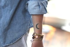 love moon tattoo