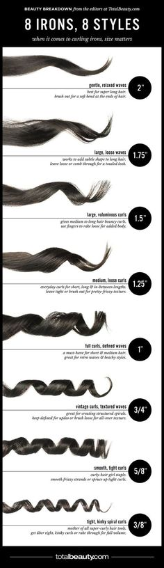 8 Curling Iron Reference