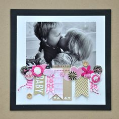 Great scrapbook layout for a focus on 1 pic!