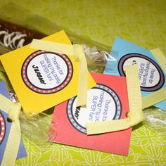Comic Book Superhero Birthday Party- thank you favor tags by A Party Studio on Etsy, only $7.00