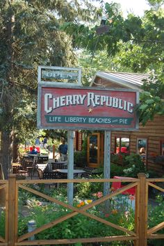 Cherry Republic  Products, Glen Arbor, MI & Ann Arbor. Found out they have cherry brownies too
